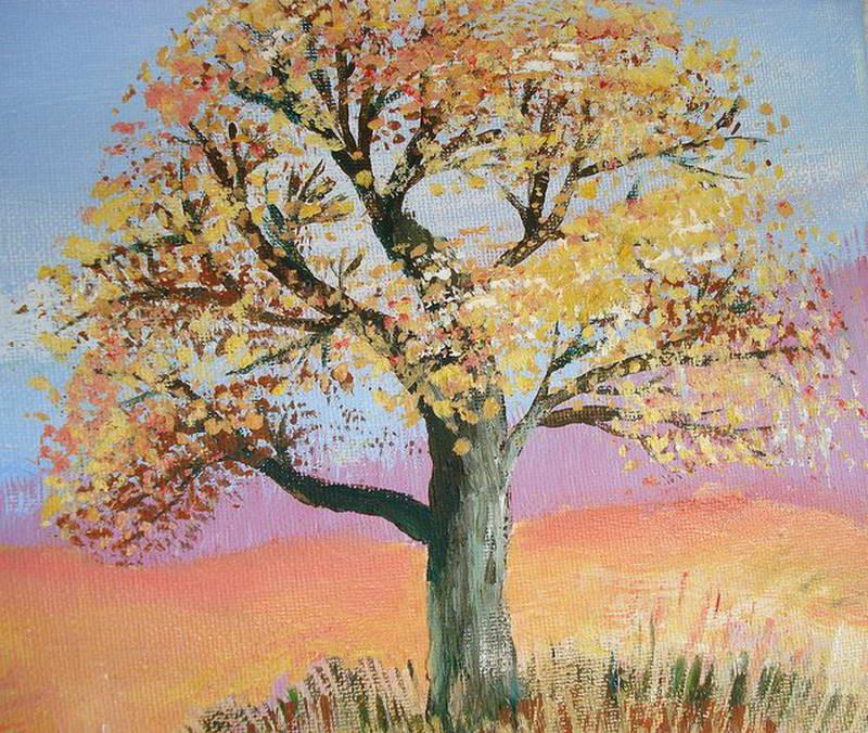 Design on pinterest - Baum malen ...